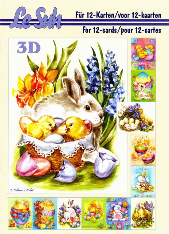 Easter  A5 3D Decoupage Book from Le Suh